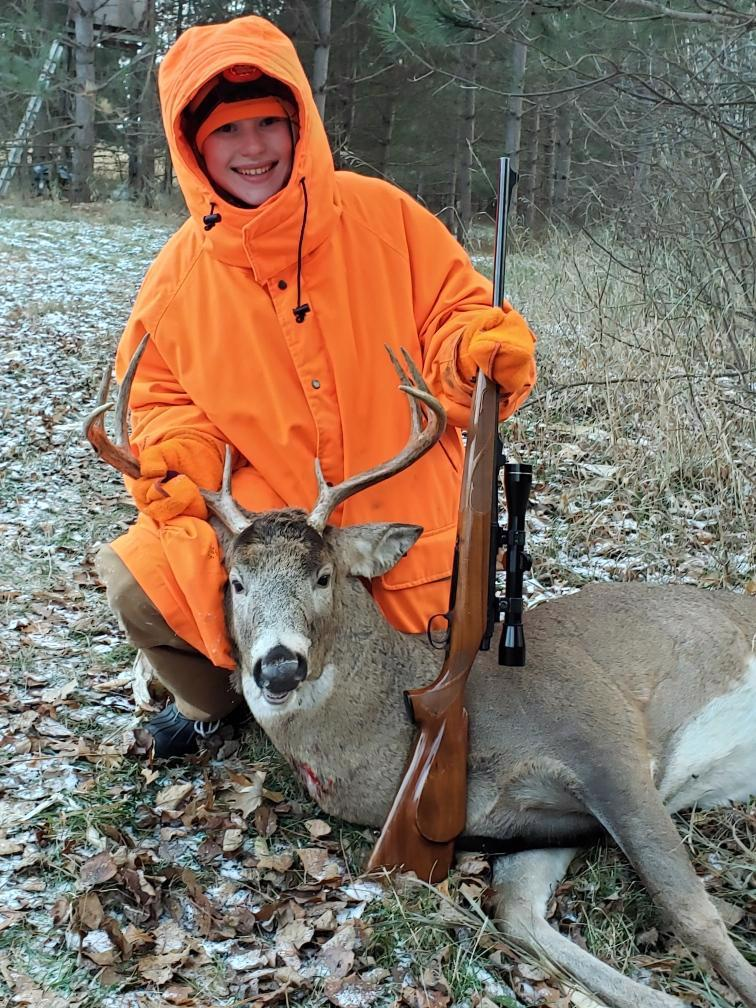 Olivia Tepley first deer